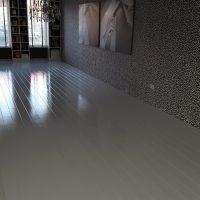 houten vloer dekkend wit